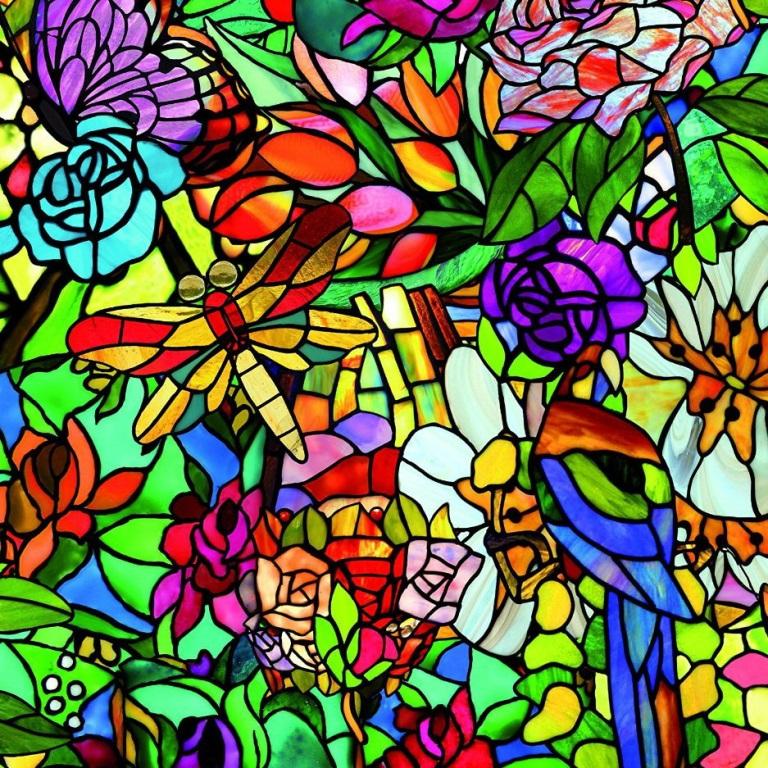 Самоклейка D-C-Fix (Стрекоза в цветах) 90см х 1м Df 200-5598 0
