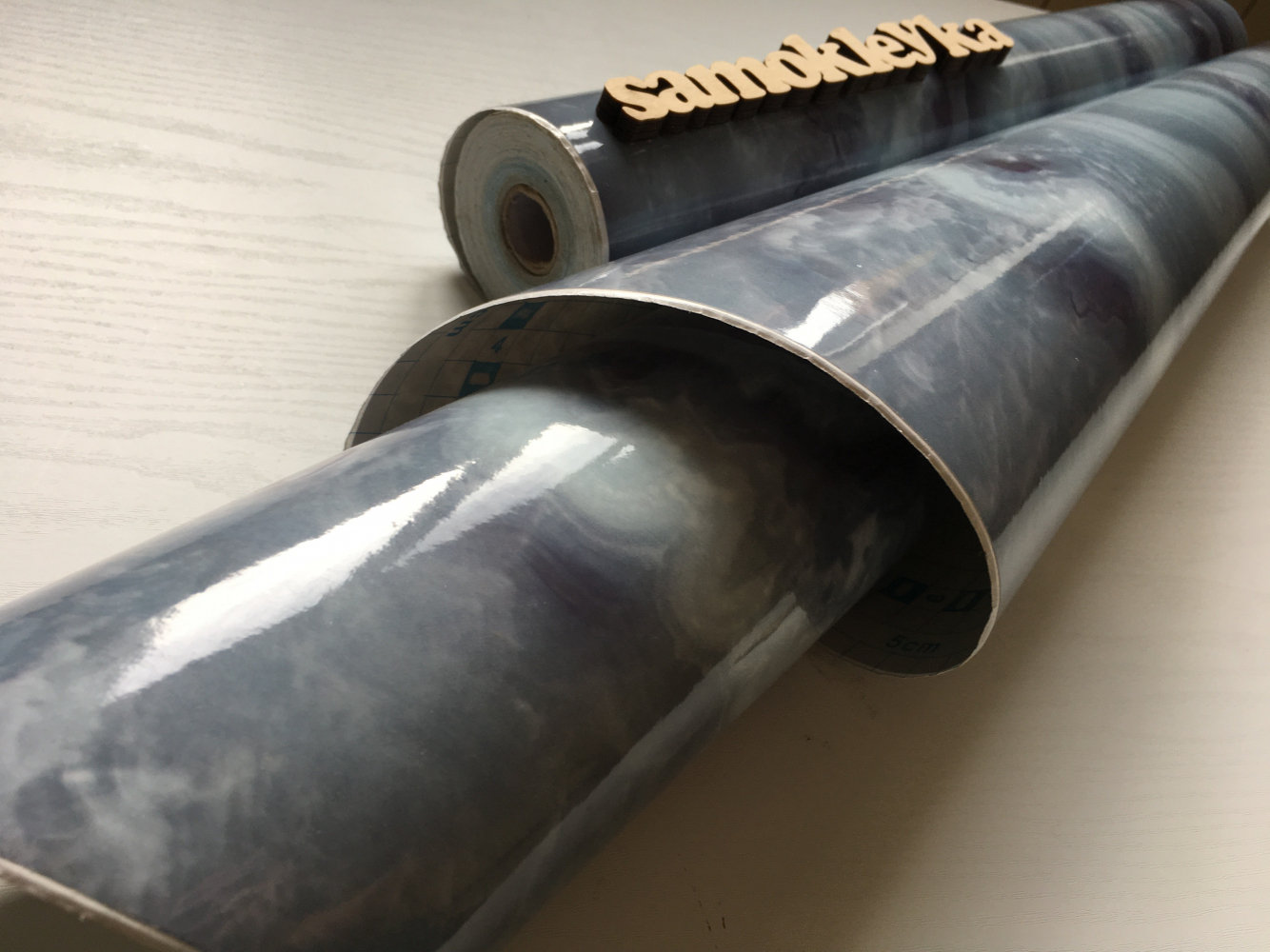 Самоклейка Hongda (Голубой мрамор) 45см х 1м Hm101-1 0