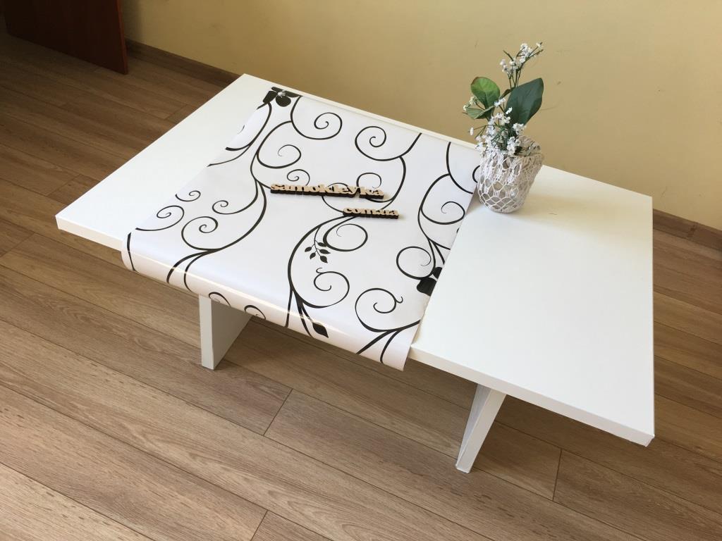 Самоклейка Hongda (Белые завитки) 45см х 1м H5498 0