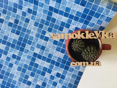 Самоклейка Patifix (Голубая мозаика) 45см х 1м 13-4555
