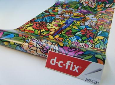 Самоклейка D-C-Fix (Стрекоза в цветах) 90см х 1м Df 200-5598