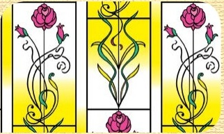 Самоклейка Hongda (Розы) 45см х 15м Ht002