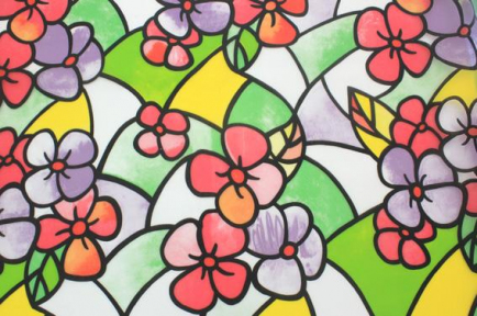 Самоклейка Hongda (Цветные незабудки) 90см х 15м Ht025
