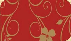 Самоклейка Hongda (Красные завитки) 45см х 15м H5498-4