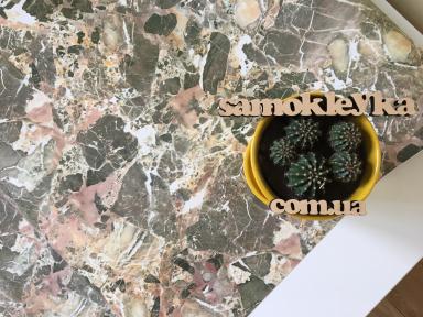 Самоклейка Hongda (Зеленый мрамор) 90см х 15м H5225-1