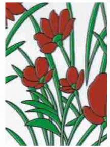 Самоклейка Hongda (Красные маки) 45см х 15м H9027