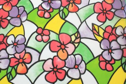 Самоклейка Hongda (Цветные незабудки) 45см х 15м Ht025