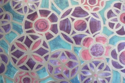 Самоклейка Hongda (Геометрия в цветах) 45см х 15м Ht027