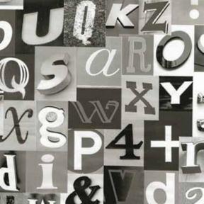 Самоклейка Gekkofix (Однотонный алфавит) 45см х 15м 13410