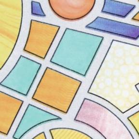 Самоклейка Gekkofix (Цветное стекло) 67,5см х 15м 10725