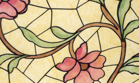 Самоклейка Patifix (Витражные цветы) 90см х 15м 11-2240